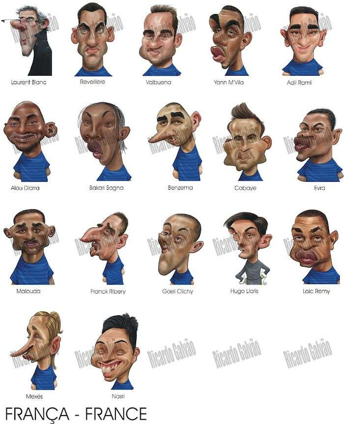 Класні карикатури гравців Євро 2012 (10 картинок)