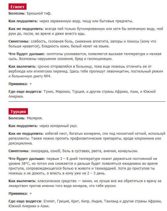 Екзотичні захворювання в курортних країнах (3 фото + текст)
