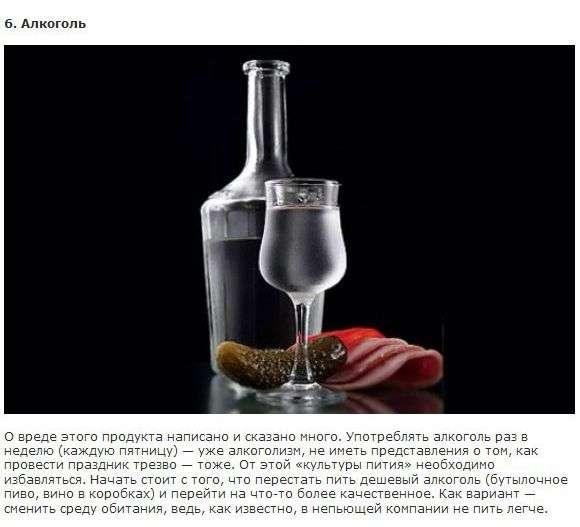 Шкідливі для здоровя продукти (10 фото + текст)