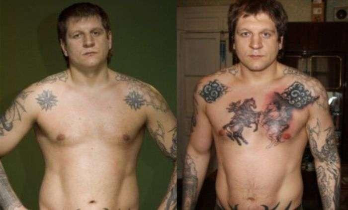 Розшифровка татуювань Олександра Ємельяненко (9 фото + текст)