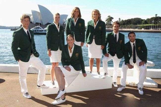 Олімпійська форма спортсменів різних країн світу (12 фото)