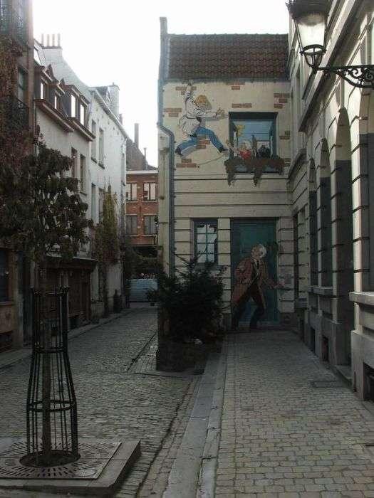 Комікси на вулицях Бельгії (40 фото)