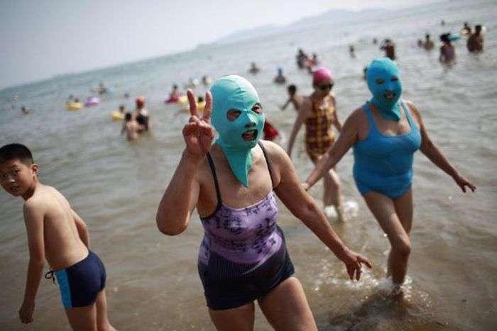 Китайські модниці на пляжі (6 фото)