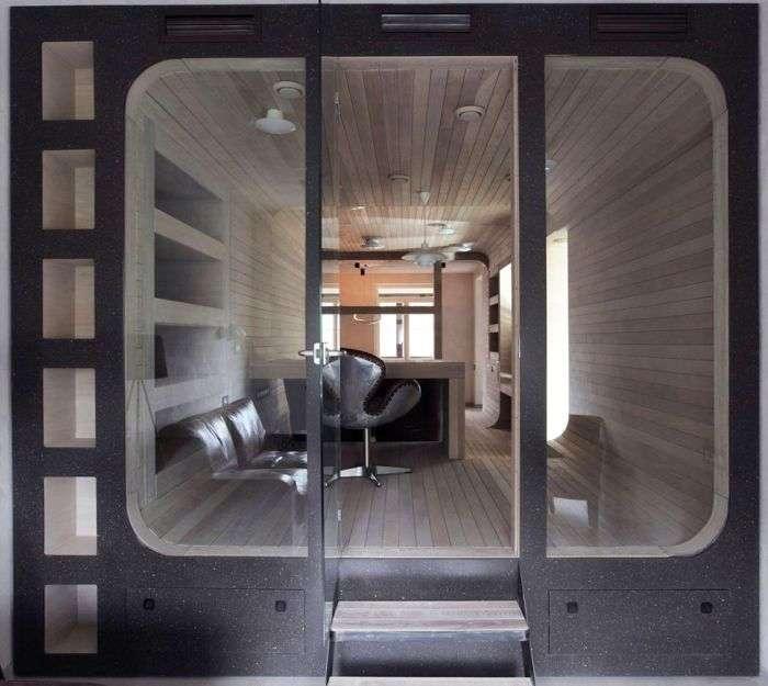 Креативний дизайн квартири з дерева (14 фото)