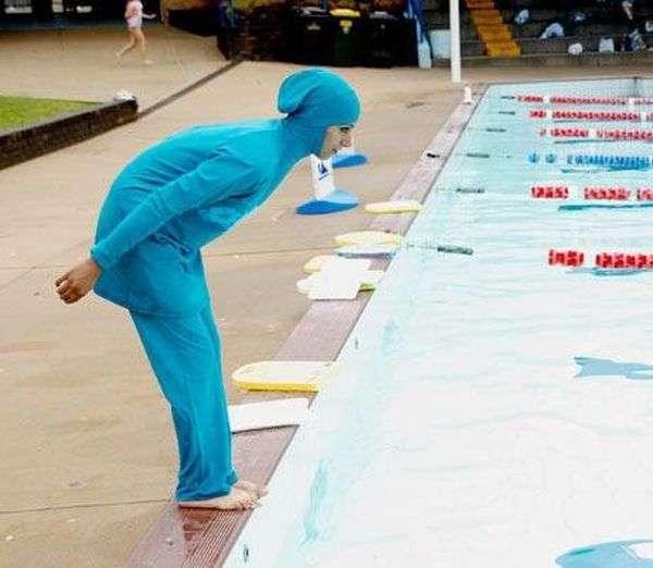 Креативний купальний костюм для мусульманок (5 фото)