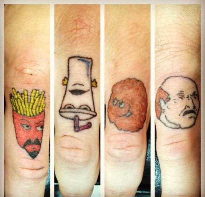 Дивні татуювання і боді-арт (57 фото)