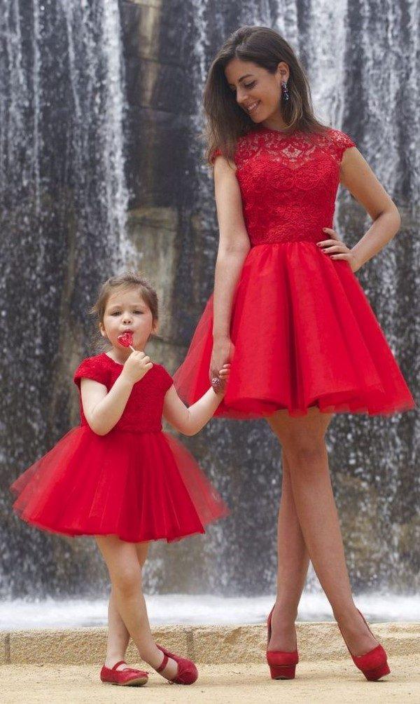Сказочные наряды для мам и дочерей лучшее,мода,модные советы,Наряды