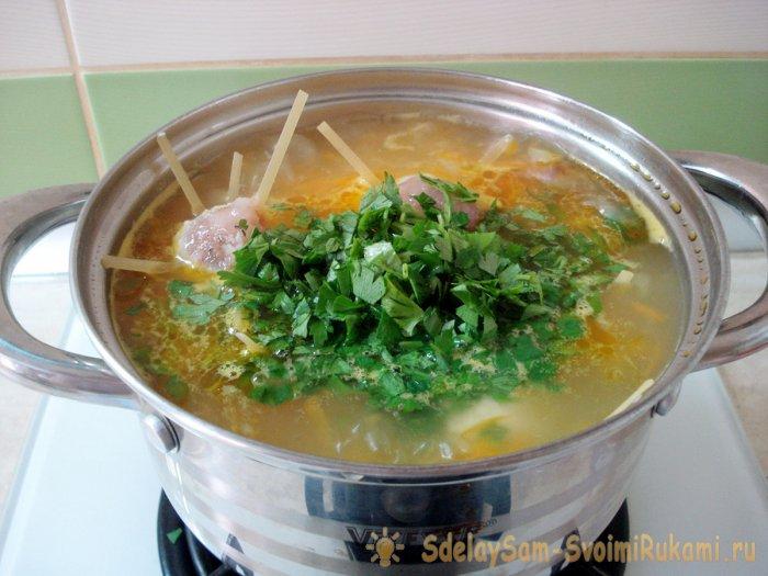 Детский суп с осьминожками Самоделки