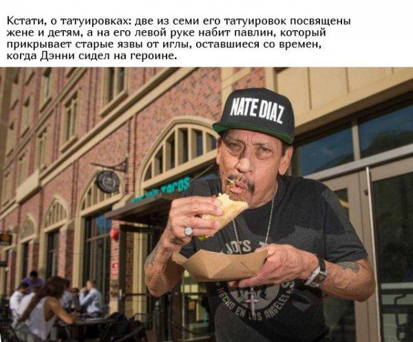 Интересные факты из жизни актера Дэнни Трехо Всячина