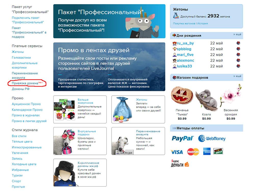 Переход на собственный домен в ЖЖ #livejournal,Лайфхак,Блогосфера,ЖЖ