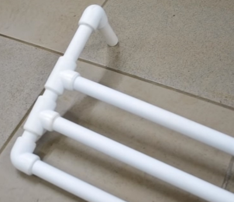 Как сделать сушилку из пластиковых труб Вдохновение,Быт,Дом,Идеи,Лайфхаки
