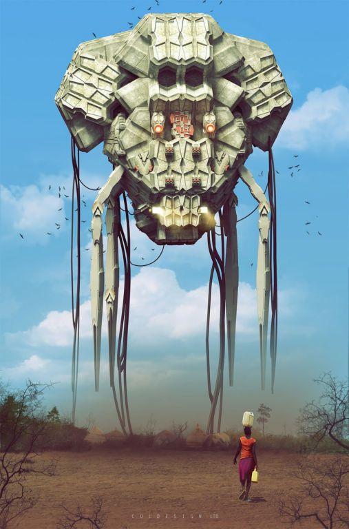 Футуризм в цифровой графике: фантастические иллюстрации британского концепт-художника Кол Прайса Искусство