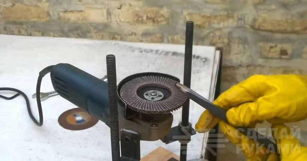 Мини стойка для угловой шлифовальной машины Самоделки