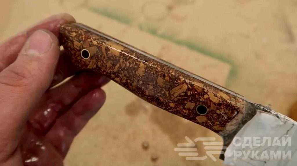 Оригинальная ручка для ножа из пробкового дерева Самоделки