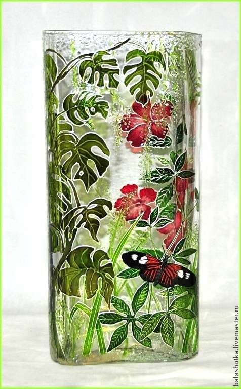 Вазы расписанные вручную в витражной технике. Автор Екатерина Балашова Москва. handmake,разное,стекло и керамика,художество