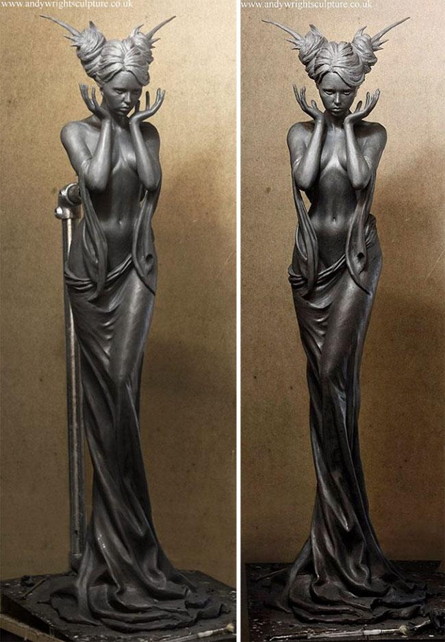 Художник создаёт скульптуры, которые сложно отличить от настоящих скульптура