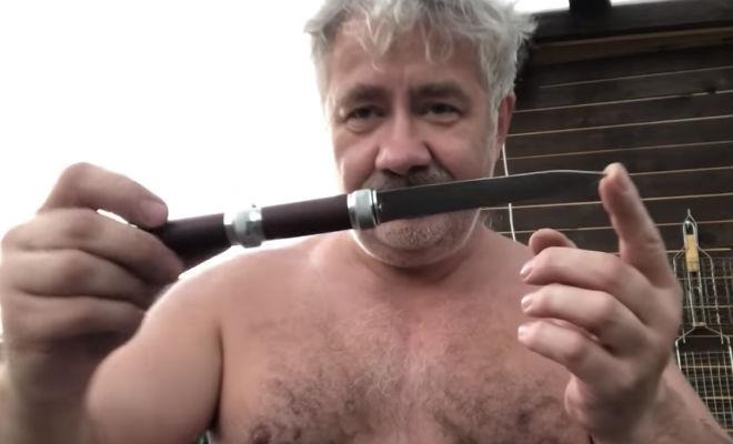 Талантливый клинок неизвестного мастера Видео,клинок,нож,оружие,Пространство