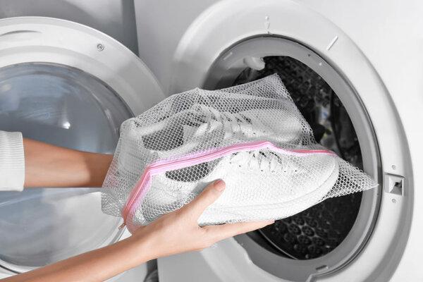 Как я стираю обувь в стиральной машине дача,дом,квартира,обувь,полезные советы,стирка