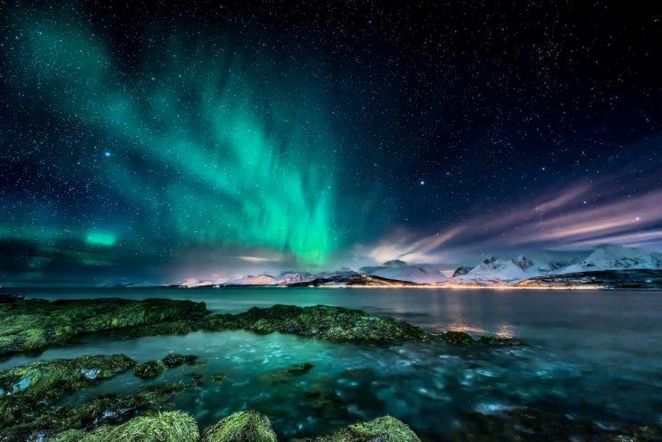 12 потрясающих фотографий мест, которые естественно светятся в темноте природа