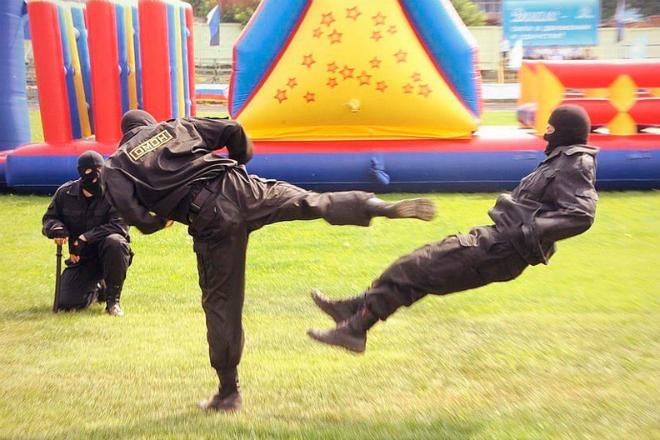 Остановка качка с одного удара: урок инстуктора спецназа бой,Видео,инстуктор,спецназ,Тренинг