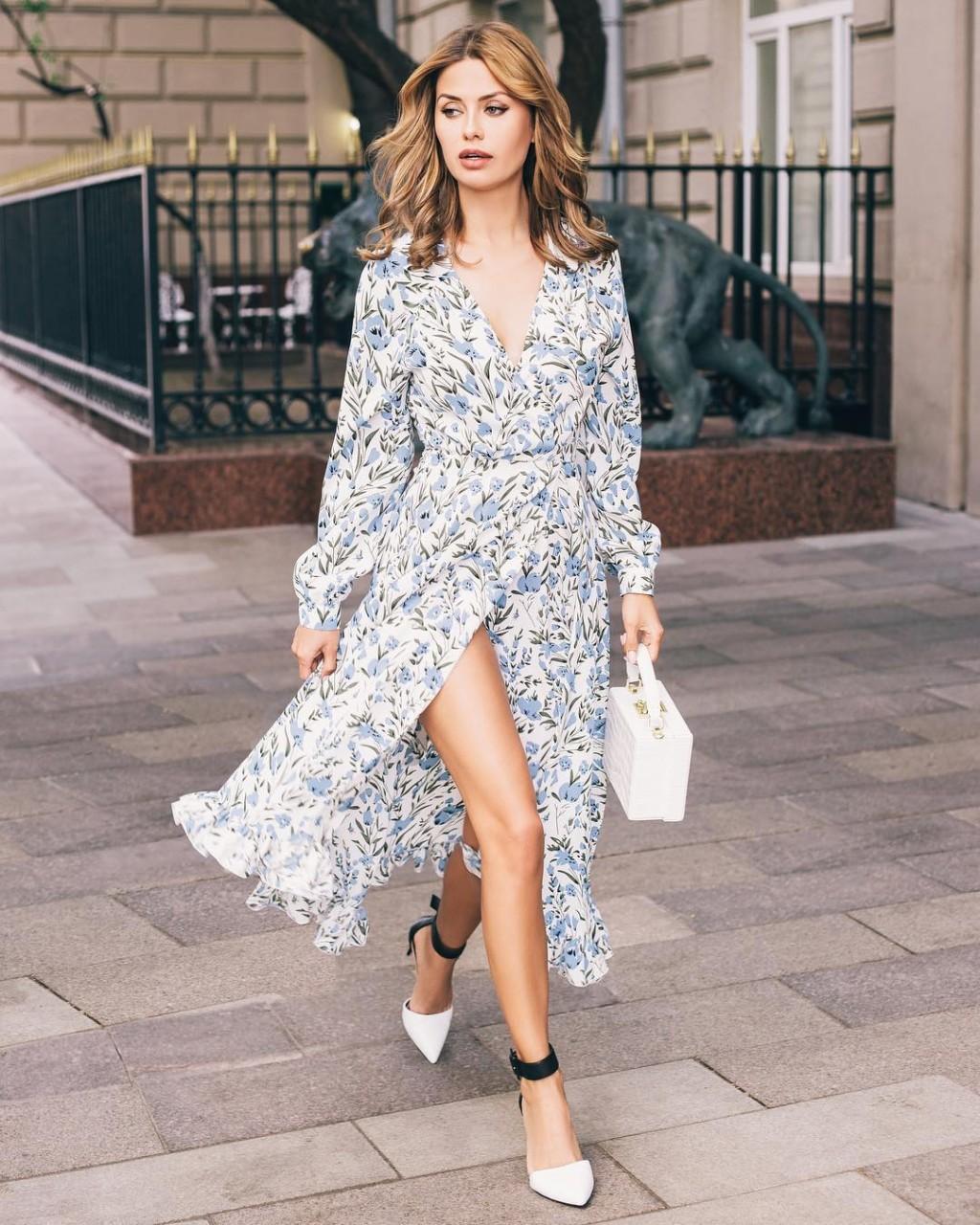 Как летом выглядеть стильно и шикарно — образы с платьями от модных блогеров лето 2019,мода,образ,Советы,Стиль,тенденции,уличная мода