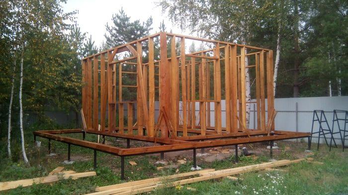 Строим дачный домик дачный дом,интерьер,своими руками,сделай сам