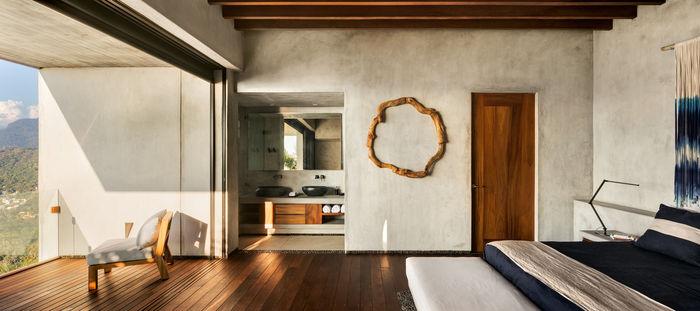 За бамбуковой стеной: роскошный минималистичный дом загородный дом,минимализм,океан,тропики