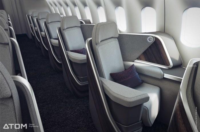 Российские дизайнеры показали, как будет выглядеть салон самолета будущего авиатур