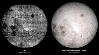 Что находится на обратной стороне Луны Космос